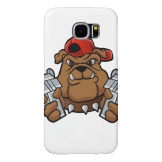 gangster bulldog  with pistols samsung galaxy s6 cases