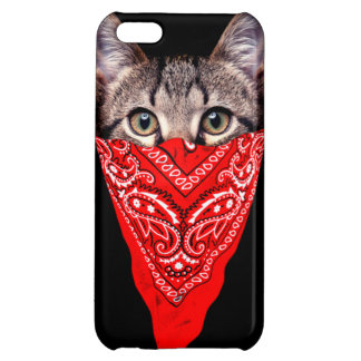 gangster cat - bandana cat - cat gang cover for iPhone 5C