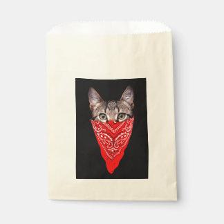 gangster cat - bandana cat - cat gang favour bag