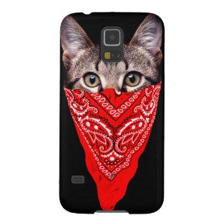 gangster cat - bandana cat - cat gang galaxy s5 cases