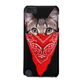 gangster cat - bandana cat - cat gang iPod touch (5th generation) case