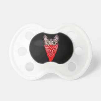 gangster cat - bandana cat - cat gang pacifier