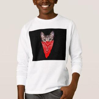 gangster cat - bandana cat - cat gang T-Shirt