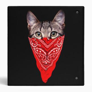 gangster cat - bandana cat - cat gang vinyl binder