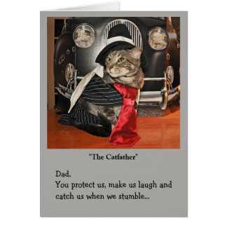 Gangster cat card