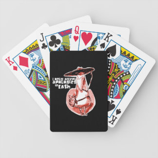 gangster duck cartoon style funny illustration bicycle playing cards
