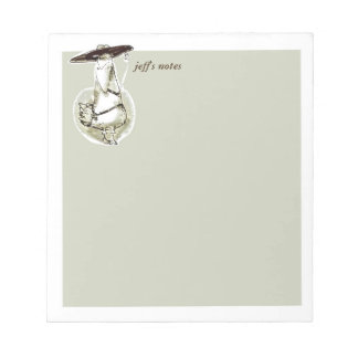 gangster duck cartoon style funny illustration notepad