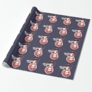 gangster duck cartoon style funny illustration wrapping paper