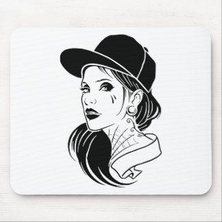 Gangster Girl Mouse Pad