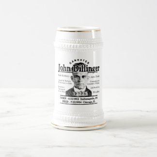 Gangster John Dillinger Beer Stein