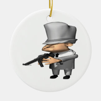 Gangster Round Ceramic Ornament