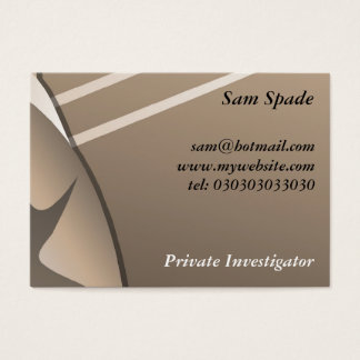 Gangster, Sam Spade Business Card