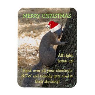 Gangster Santa Squirrel Magnet