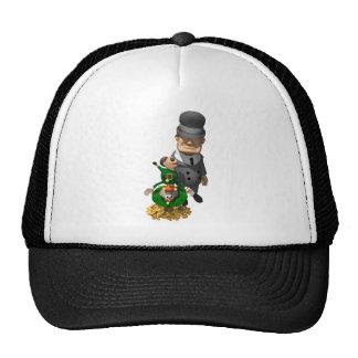 Gangster Shakes Down a Leprechaun Trucker Hat