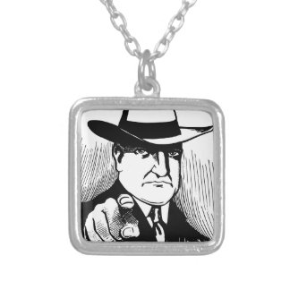 Gangster Silver Plated Necklace