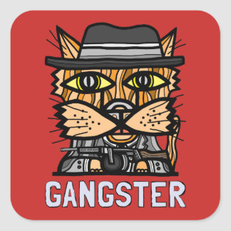"""Gangster"" Square Sticker (Sheet of 6)"