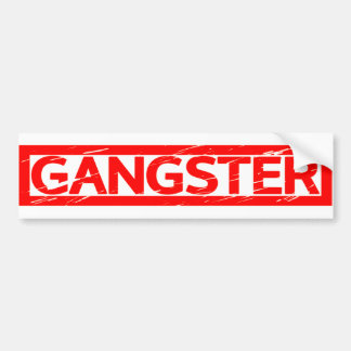 Gangster Stamp Bumper Sticker