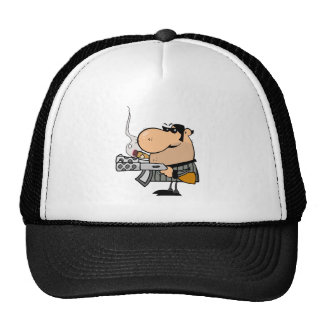 Gangster With Weapon Trucker Hat
