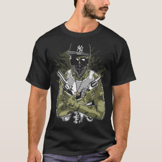 Gangster Zombie Mens Black T-Shirt
