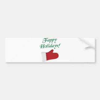 Gant de Noël de vacances de Fappy Autocollant De Voiture