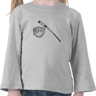 Gant et batte de base-ball t-shirts