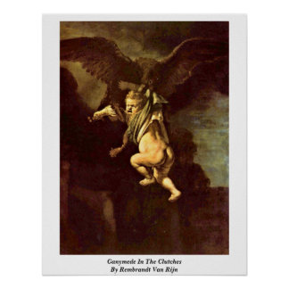 Ganymede In The Clutches By Rembrandt Van Rijn Poster