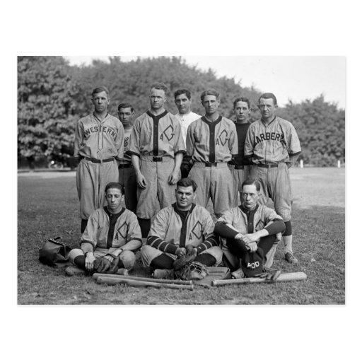 GAO de l'équipe de baseball de PO, les années 1920 Carte Postale