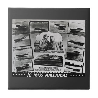 Gar Wood 10 Miss Americas Vintage Race Boats Tile