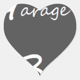Garage Boys Logo Heart Sticker