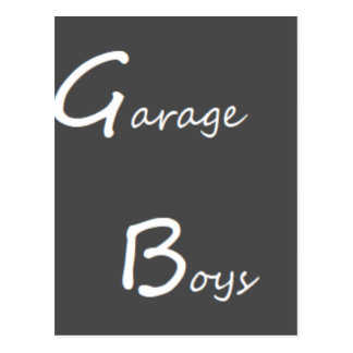 Garage Boys Logo Postcard