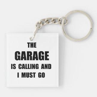 Garage Calling Double-Sided Square Acrylic Keychain