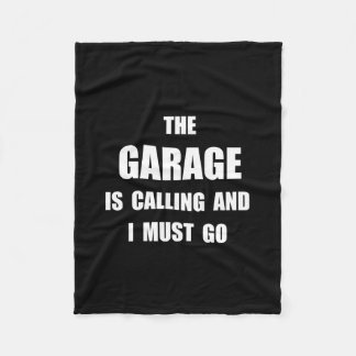 Garage Calling Fleece Blanket