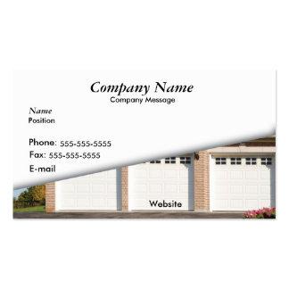 Garage de voiture du blanc 3 cartes de visite personnelles