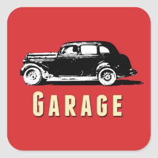 Garage Moving Box Sticker Label