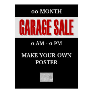 Garage Sale advertising promotional LARGE Poster