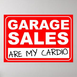 Garage Sale Cardio Poster