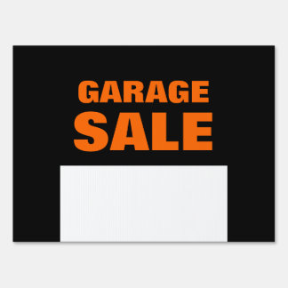 Garage Sale Customizable Yard Sign