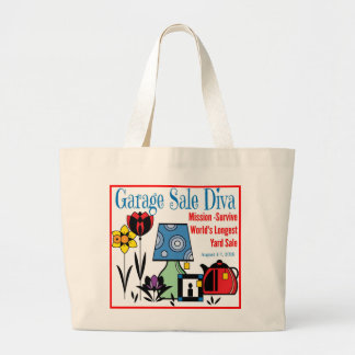 Garage Sale Diva Large Tote Bag