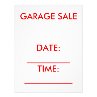 Garage Sale Flyer red