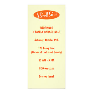 Garage Sale Flyers ~ A Swell Sale! Rack Card Template