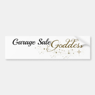 Garage Sale Goddess Bumper Sticker