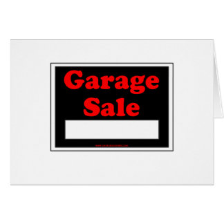Garage Sale Greeting Card