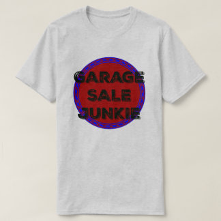 Garage Sale Junkie Blue Red Circle Design Shirt