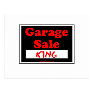 Garage Sale King Postcard