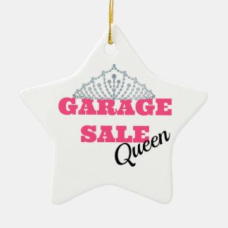 Garage Sale Queen Line Ceramic Star Ornament