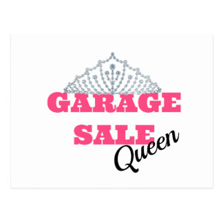Garage Sale Queen Line Postcard
