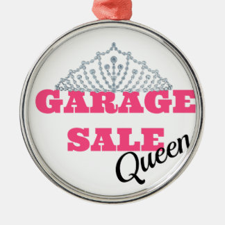 Garage Sale Queen Line Silver-Colored Round Ornament