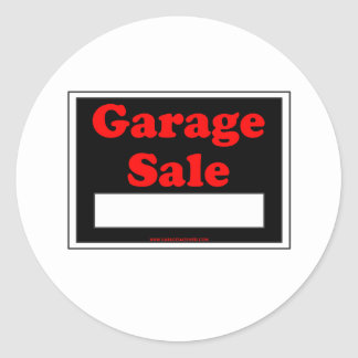 Garage Sale Round Sticker