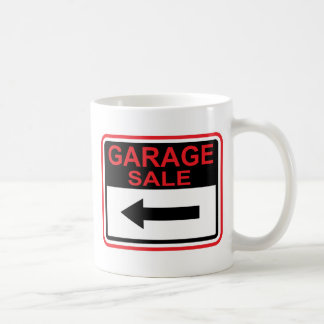Garage Sale sign this way arrow Vector Coffee Mug