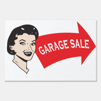 Garage sale lawn sign